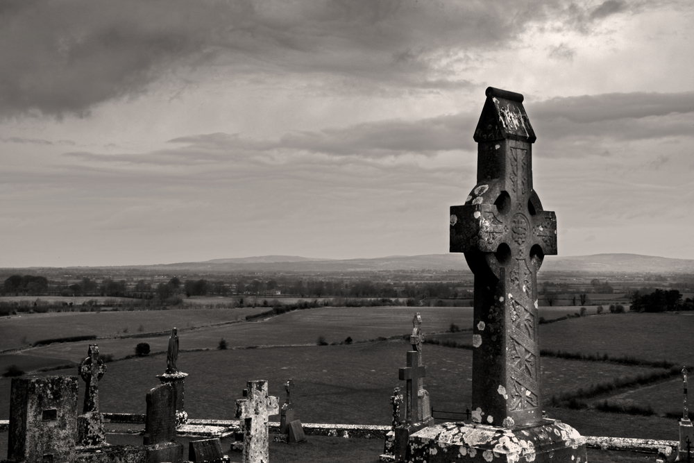 Celtic Cross - Cashel, 2010  I took this photo at the Rock of Cashel on St. Patrick's Day.  Visiting Cashel was one of the highlights of the trip.  Later in the day we ended up meeting the leader of a bagpipe band and his wife and enjoyed some real Irish craic.