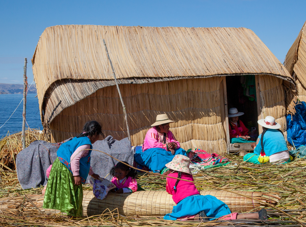 A typical home on the Uros Islands