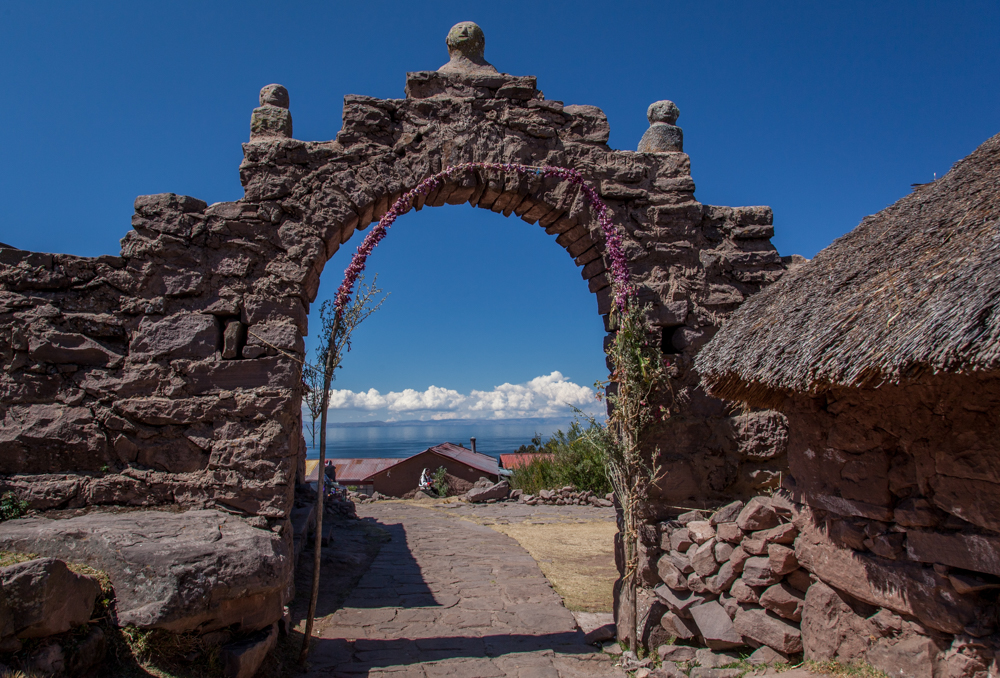 Another of the many stone arches on Taquile