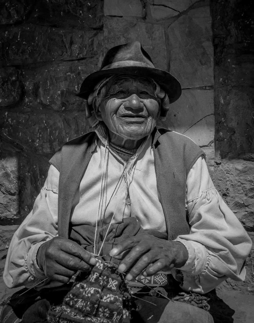 Knitter -Taquile, Peru