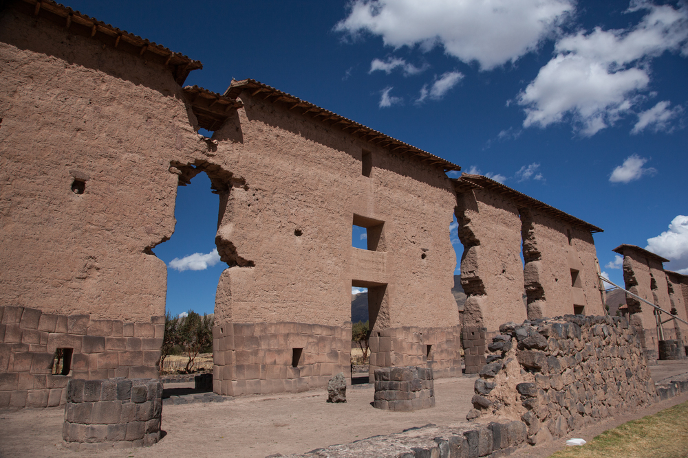 Central wall of the Temple of Viracocha in Raqchi
