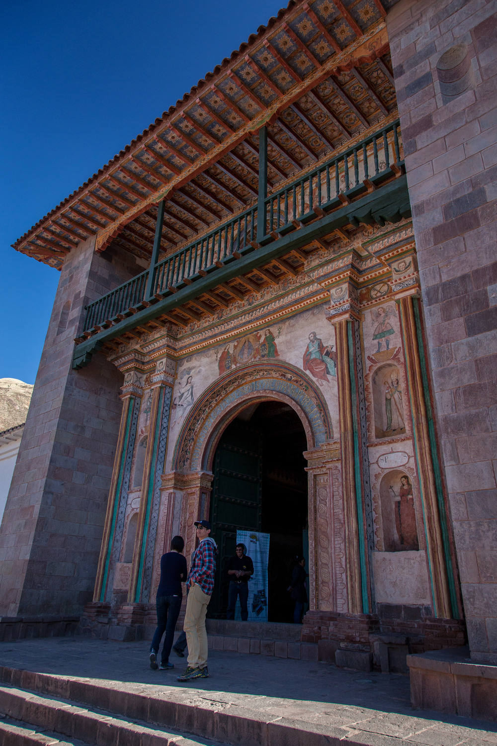 Ornate entrance to Iglesia de San Pedro, Andahuaylillas