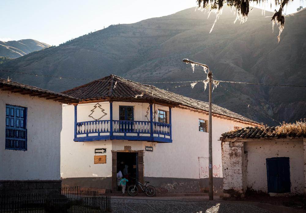 Street corner in Andahuaylillas