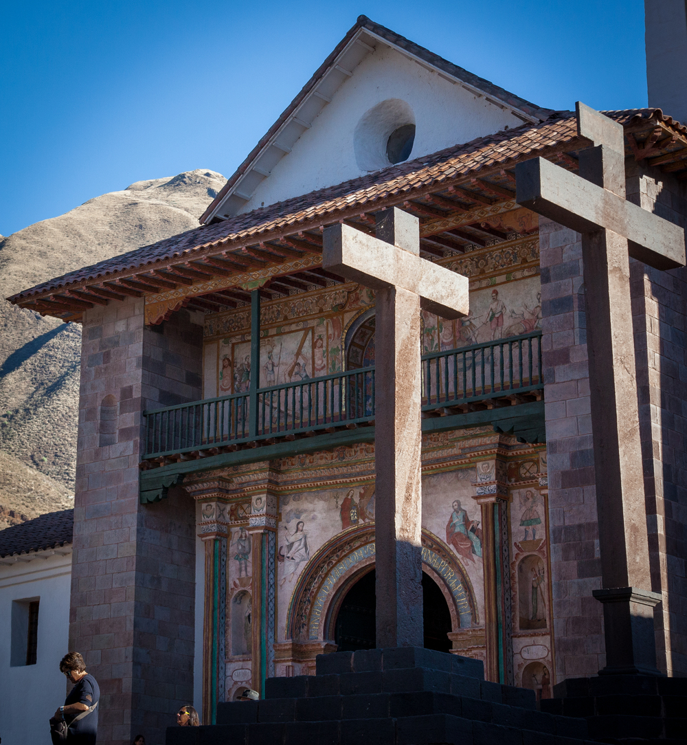 Crosses at Iglesia de San Pedro, Andahuaylillas