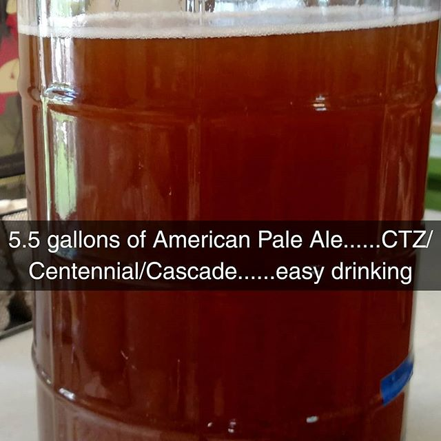 Brew a pale ale for summer. #americanpaleale #homebrewing #homebrewlife #homebrew #beer #beerstagram #craftbeer #craftbrew #craftbrewssupplies #brewri #rhodeislandbrew #rhodeisland