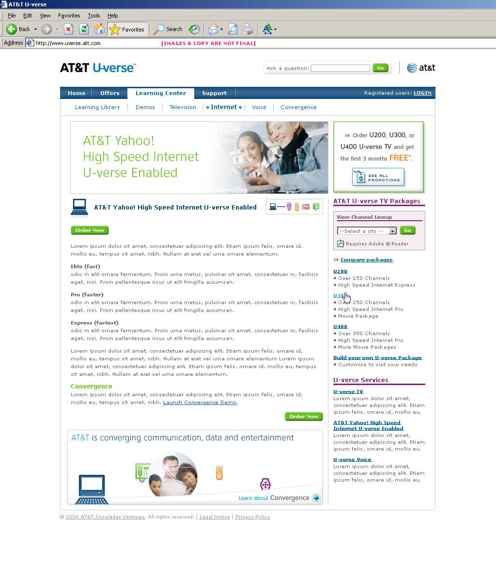 Att U Verse Contracted Through Razorfish Simple Schemes Design Manage Dvr Online