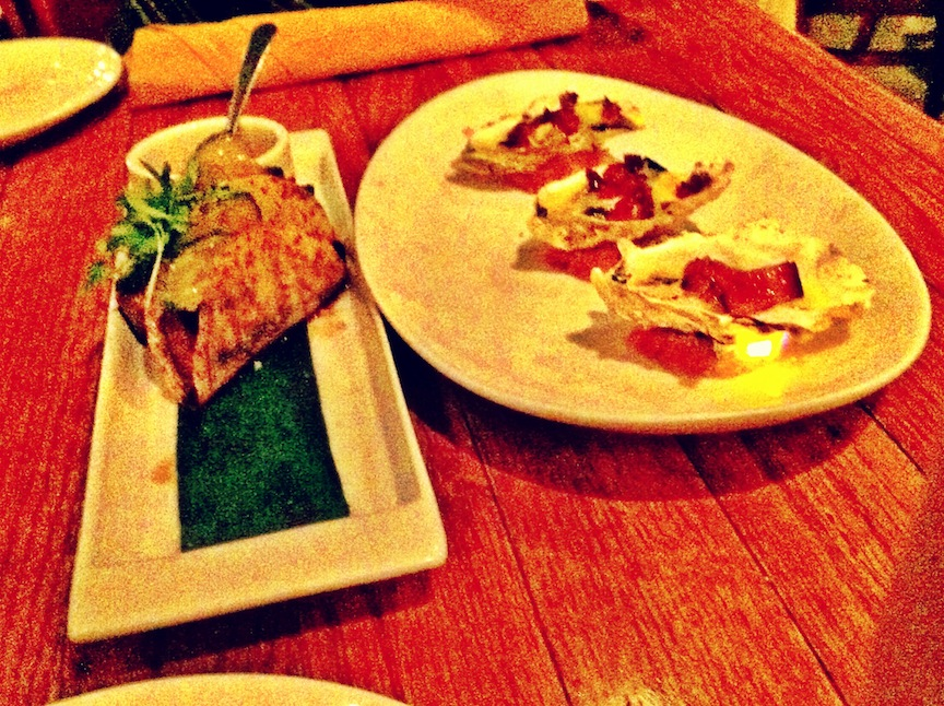 Taro Pork Belly Taco & Hangtown Broiled Oysters