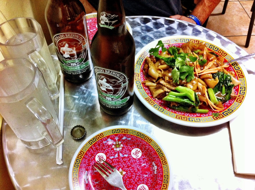 You can bring your own alcohol. Beef Pad See Eew pictured on Right.