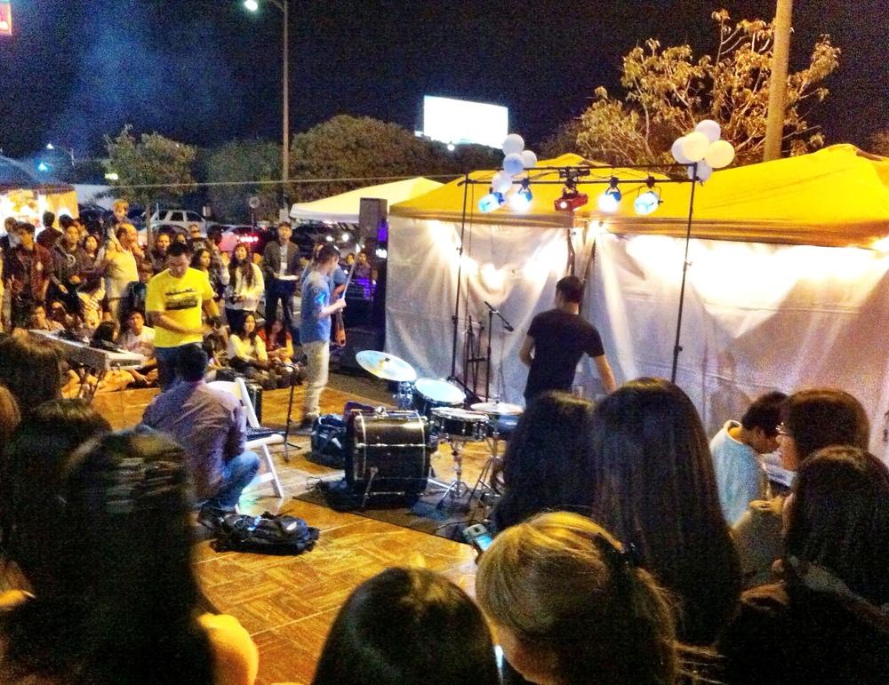 San Diego Night Market Performance Area