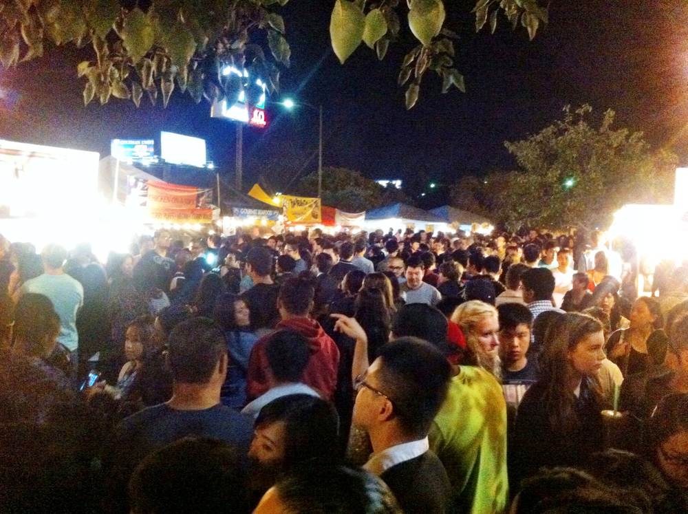 San Diego Night Market Crowd