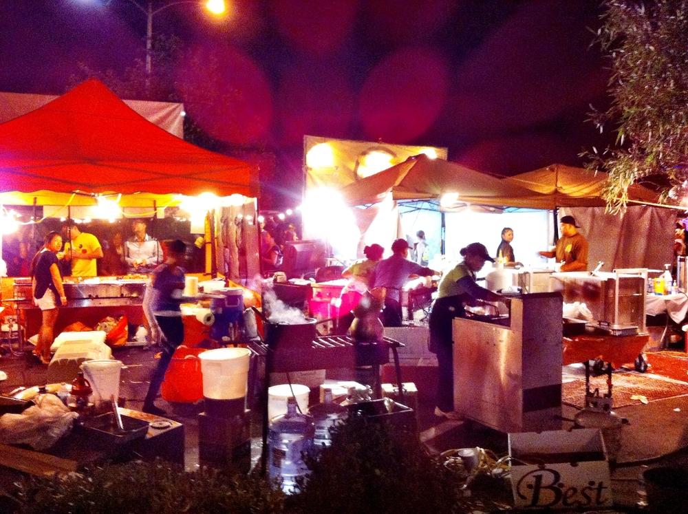 San Diego Night Market Food Stalls