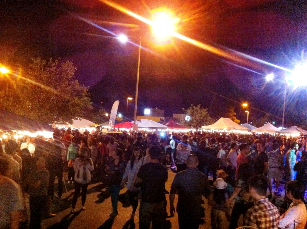 San Diego Night Market Crowds
