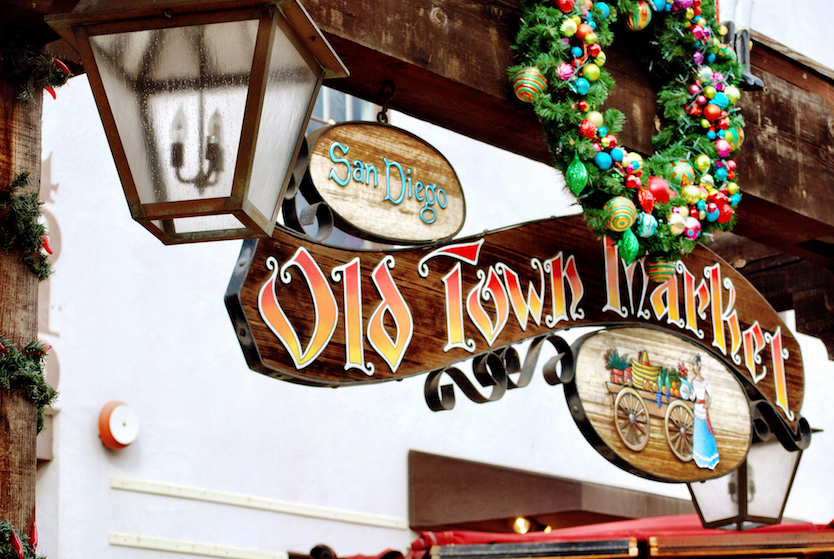 It's right outside of the Old Town Market. Grab a snack before you board the trolley, or take a look at the store while you wait for your trolley.