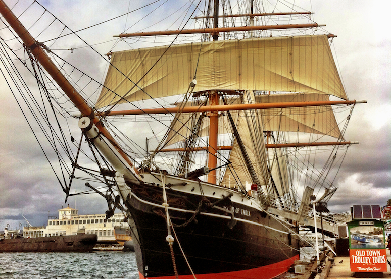 The drop-off is right in front of the Star of India. The world's oldest active sailing ship.
