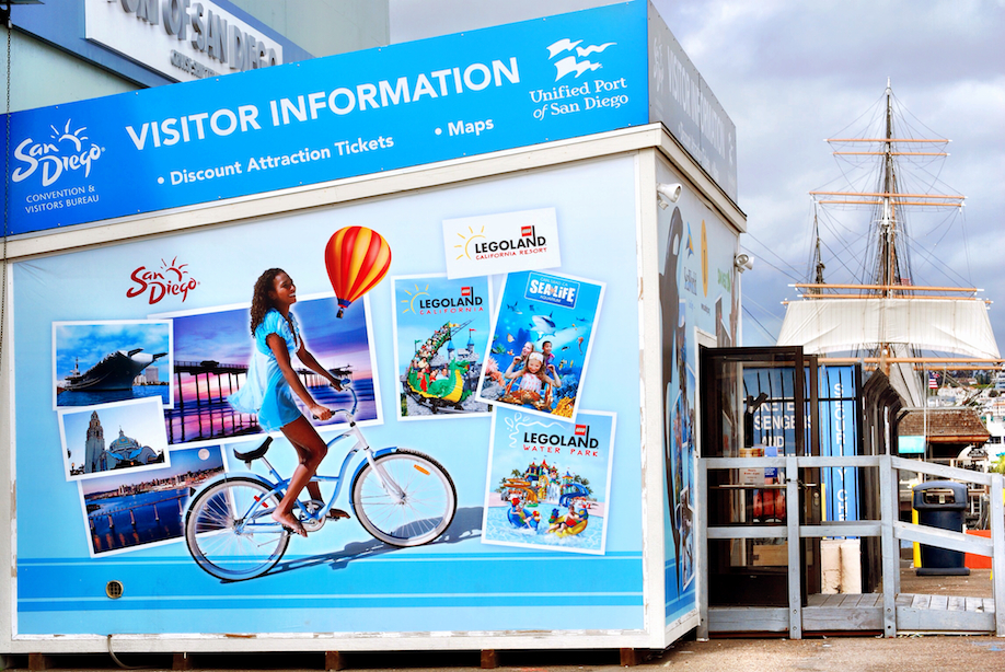 At the International Visitors Information Center, you can buy all your tickets to all the attractions in San Diego, they can also help you with any questions you have about the city, even accomodations!