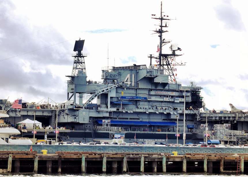 The USS midway Aircraft Carrier is the longest-serving aircraft carrier in US Naval history. 47 years!