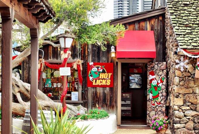 Just one of the random shops in Seaport Village. All kinds of hot sauce inside.