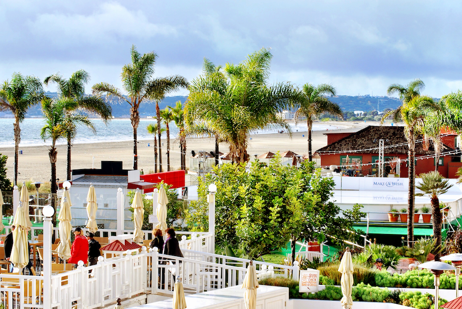An ice-skating rink is set-up right on the beach. Did you know Coronado Beach was voted by Dr. Beach as the number 1 beach in the United States for 2012? It's always one of the top 5!