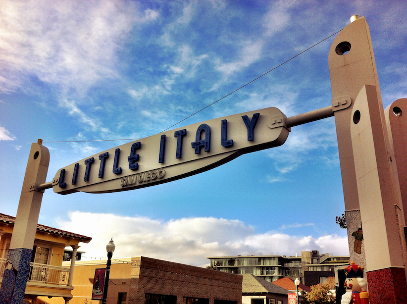 When the moon hits your eye like a big pizza pie, that's amoreeee! Our trolley tour guide sings as he drives into Little Italy.