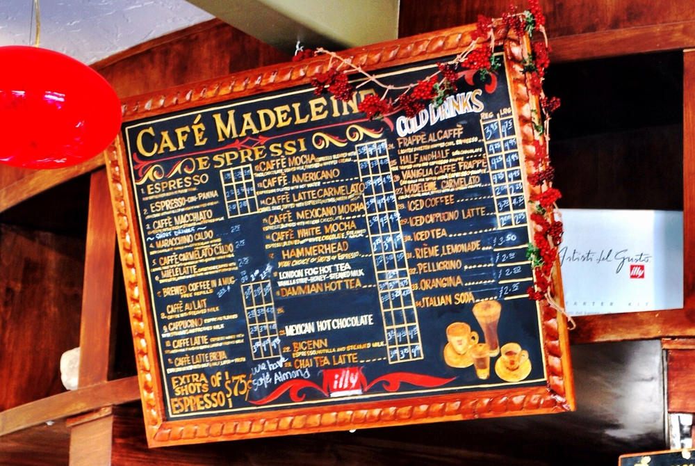 Cafe Madeleine Coffee Menu.JPG
