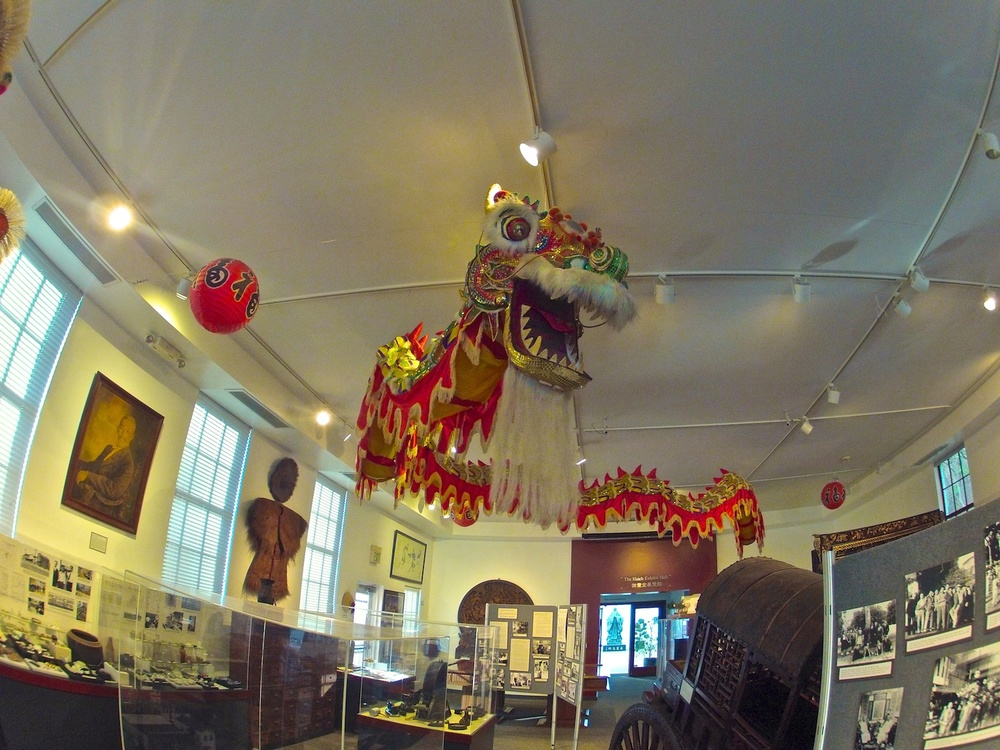 You are greeted by wonderful artifacts from China and the historic San Diego community.