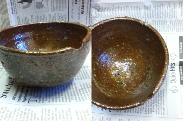"""cold mountain""  I have a couple bowls made from clay I dug up here, in North Carolina. They're rough but still comfortable enough to hold. If you like functional pottery with character this bowl is for you."