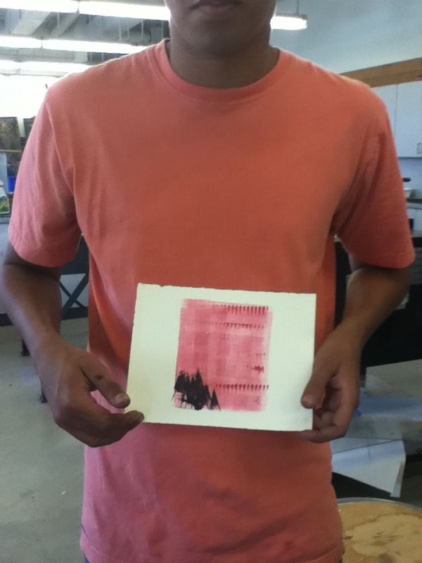 The print matches his shirt