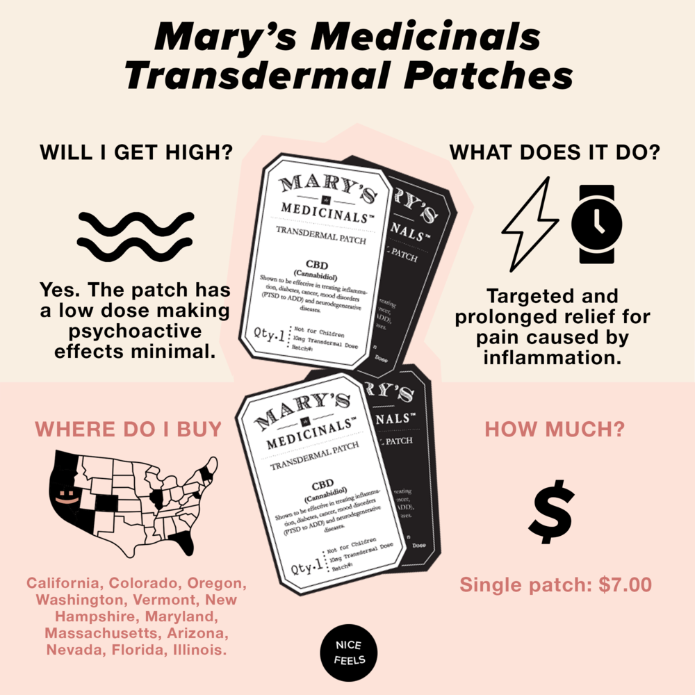 4. Mary's Medicinals Transdermal Patches - Transdermal patches are a great option for those who want targeted and slow-release pain relief. While topical creams only absorb into the top layer of the skin, providing relief to that area, transdermals use compounds that help THC and CBD pass through all layers of your skin, with some of the compound entering your bloodstream and aiding with full-body pain. Since 2013, Mary's Medicinals has developed their transdermal patches to accurately dose areas for relief. With a wide range of patches that help treat everything from muscle pain to sleep, their products target problem areas for fast results.