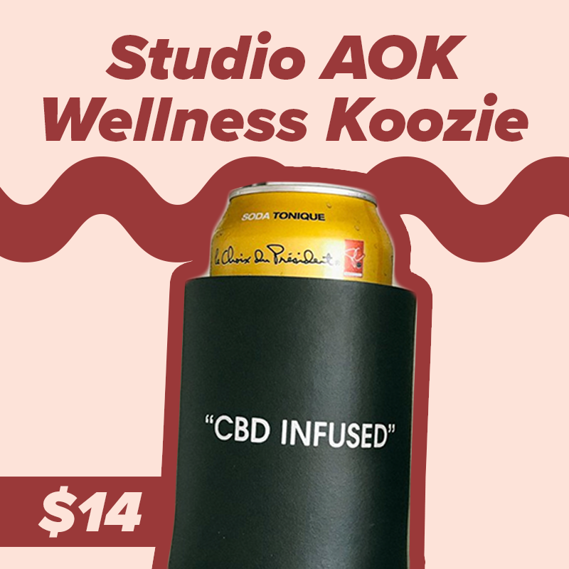 Studio A-OK - Poking (rightly so) fun at the wellness world, this is a koozie that pairs perfectly with your cockroach, I mean LaCroix beverage.