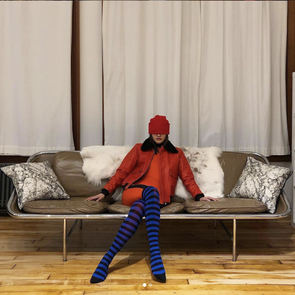 Gia Sockfluencing.    Courtesy of Instagram   .