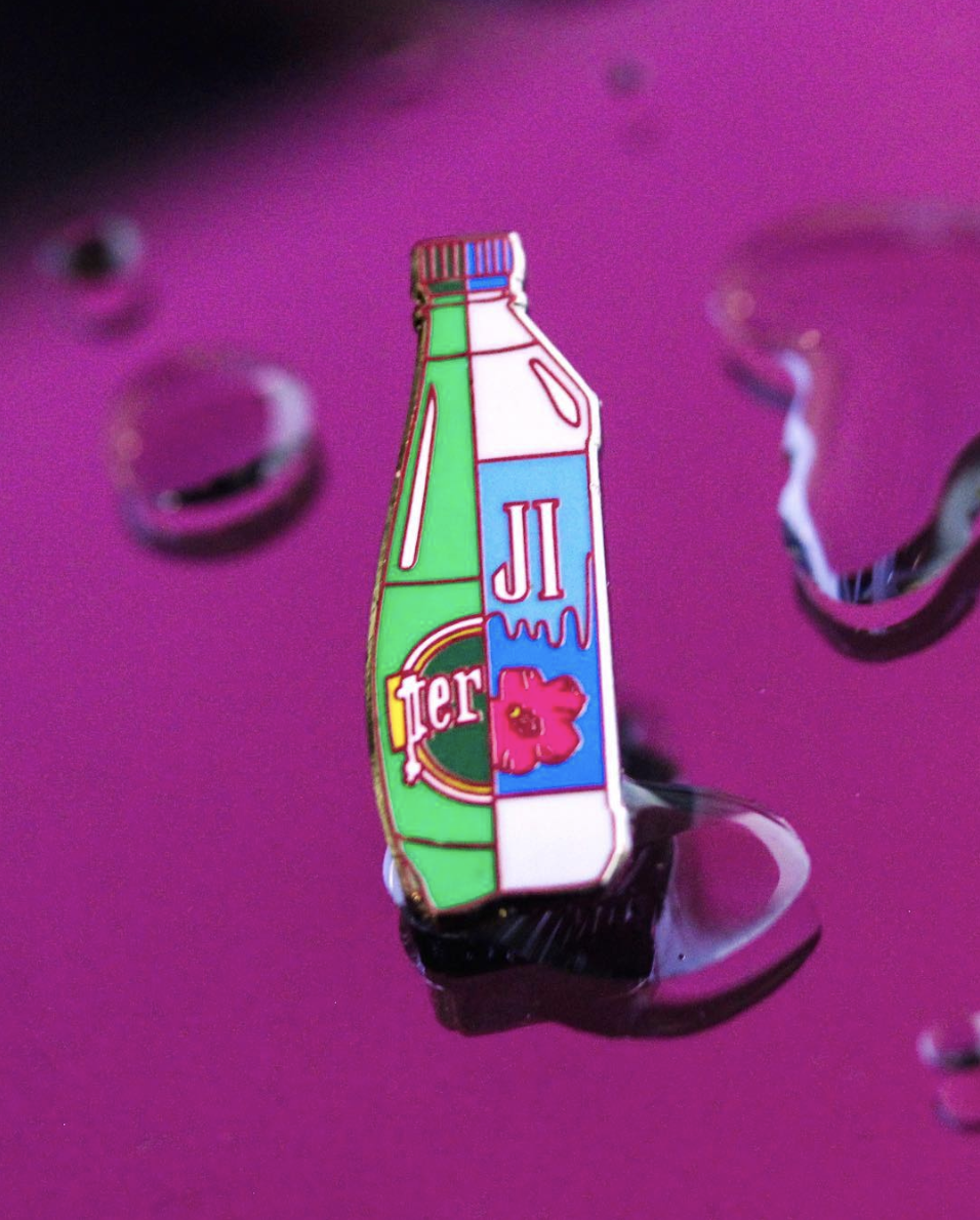 Perrier vs Fiji pin released at ComplexCon