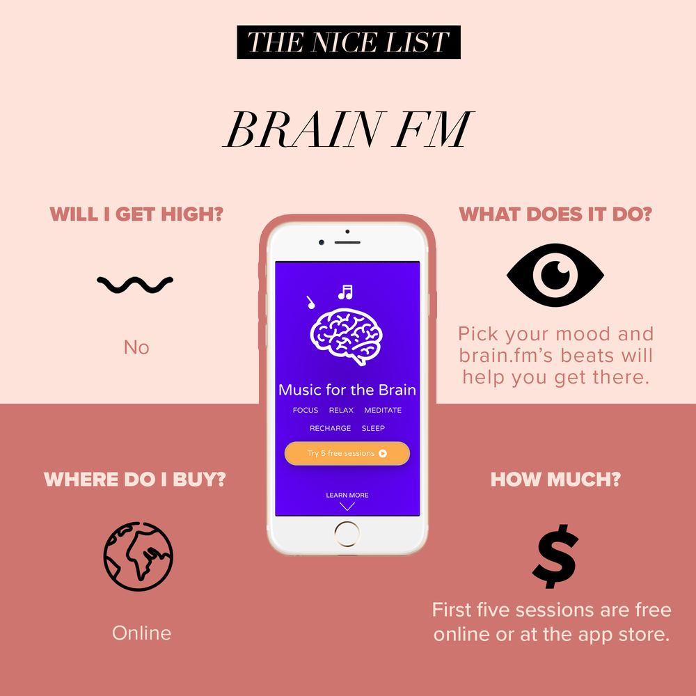 #3: Brain FM - Sometimes all you need to get a spark of creativity or motivate yourself to finally clean out your closet is the right music. Pick from five mental states (one being focus) to get results for the mood you want.