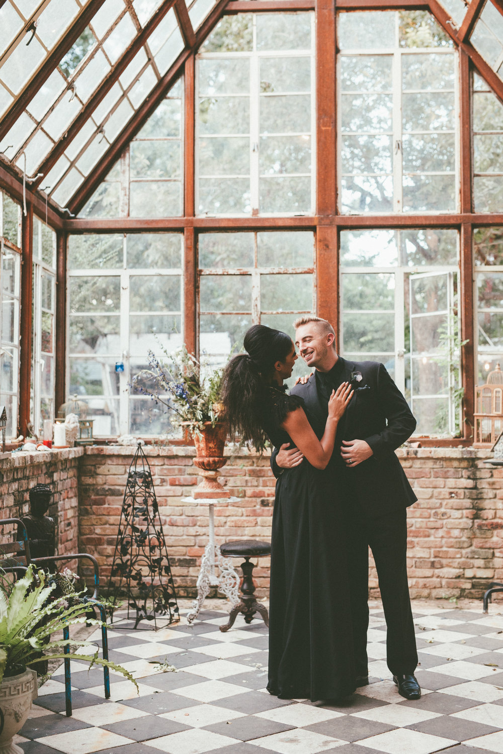 Moody + Witchy Styled Halloween Elopement Photography at Sekrit Theatre - Austin Wedding and Elopement Photographer