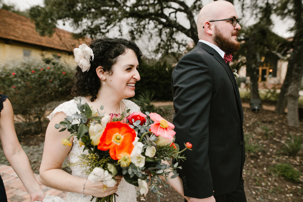 Bride and Groom at Camp Lucy
