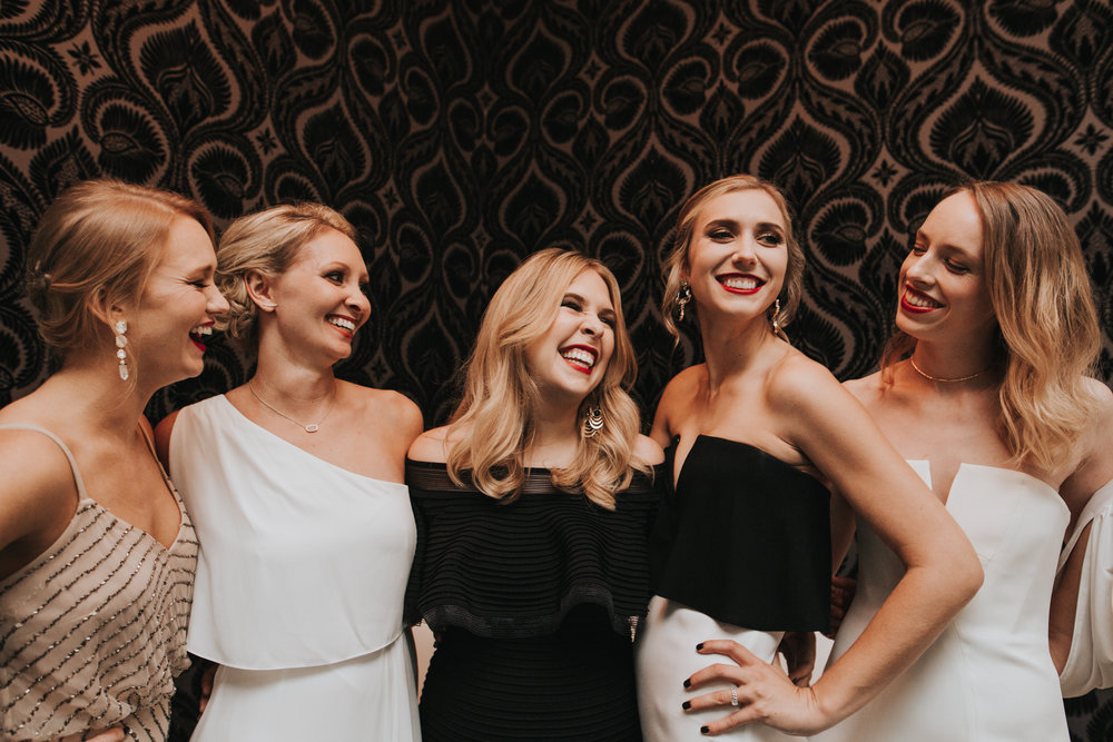 Palazzo Lavaca Bridesmaids hanging out