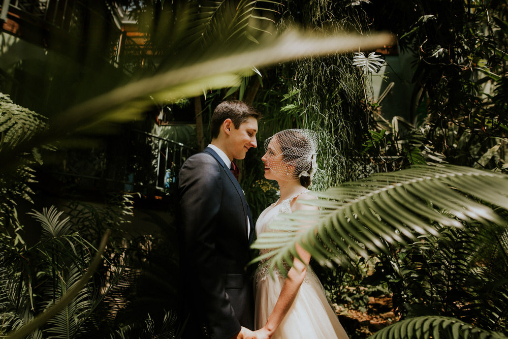 Bride and Groom Photography at Greenhouse at Driftwood