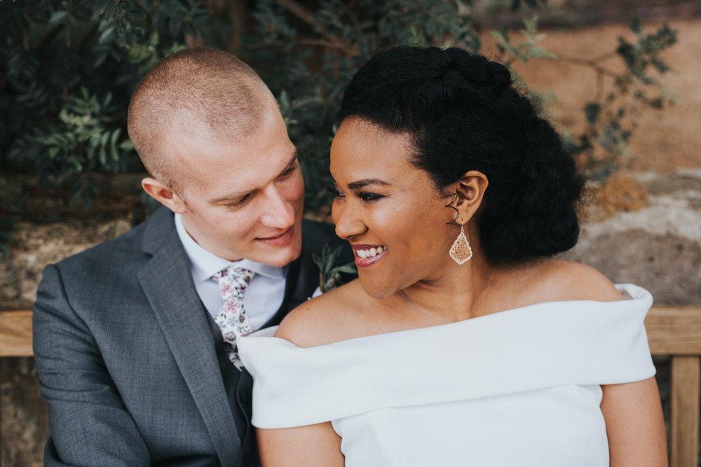 Interracial couple at LBJ Wildflower Center