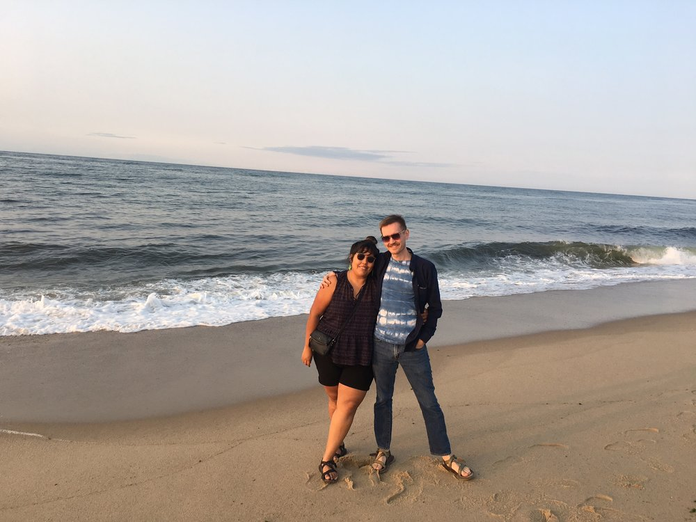 Mark and I at Race Point near Provincetown. - Photo by Shawnee Custalow