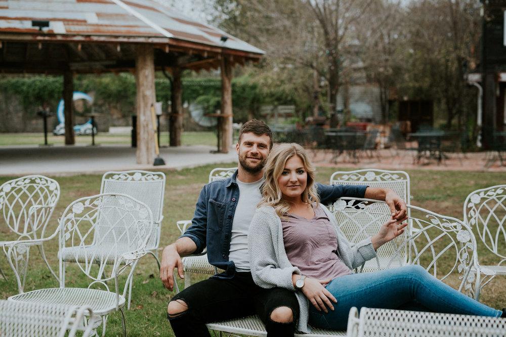 Sekrit Theater Engagement Session, Austin Engagement Photographers, Austin Engagement Photography, Blanton Museum Engagement Session