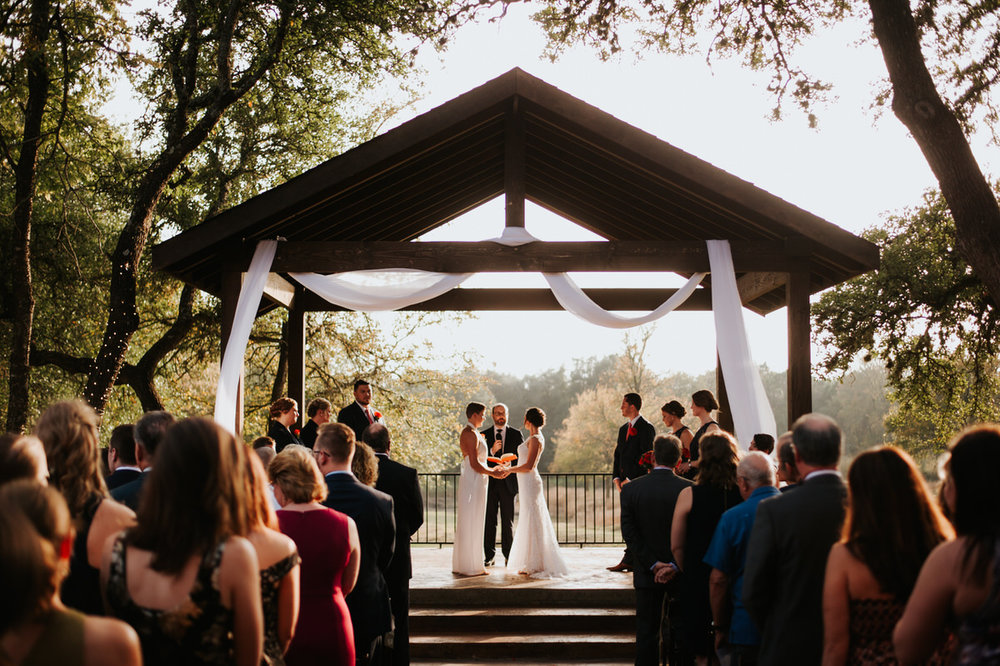 Brides getting married at Ranch Austin wedding