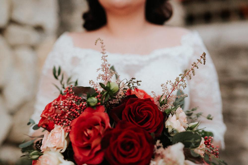 Beautiful Christmas rose bouquet