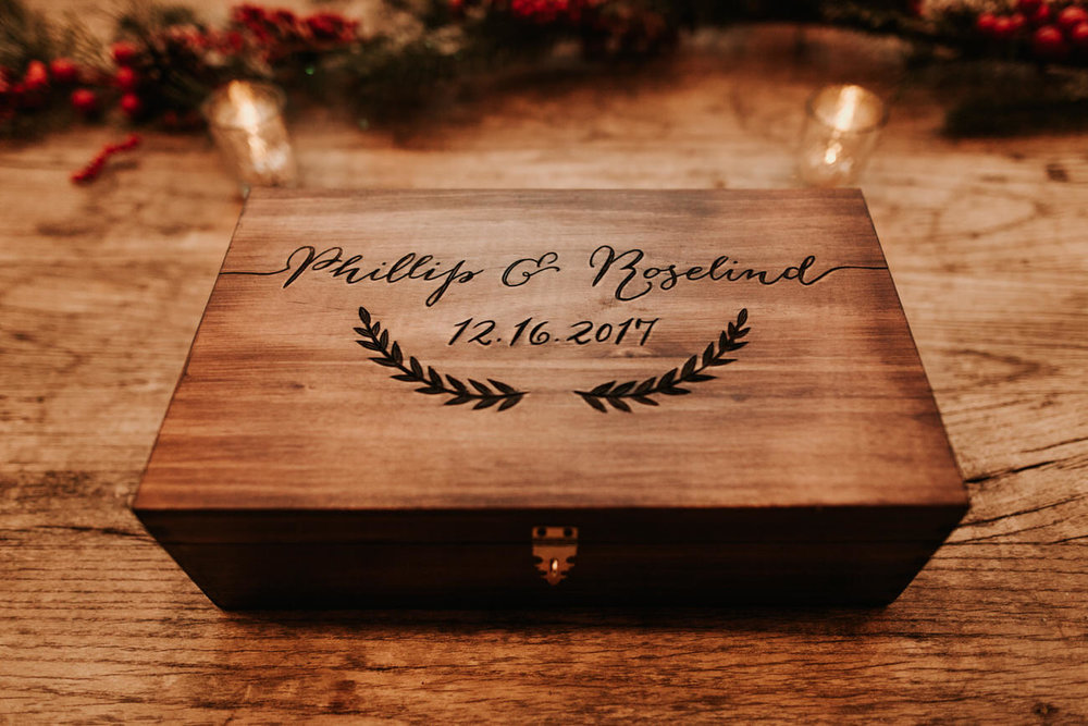 Engraved wedding box