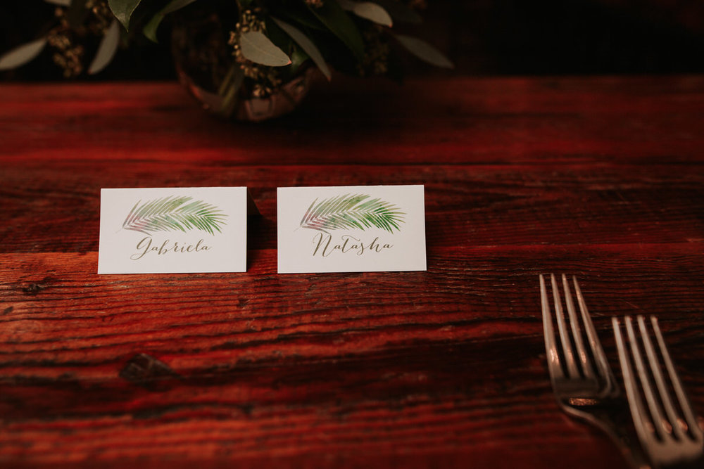Name cards at the Saguaro