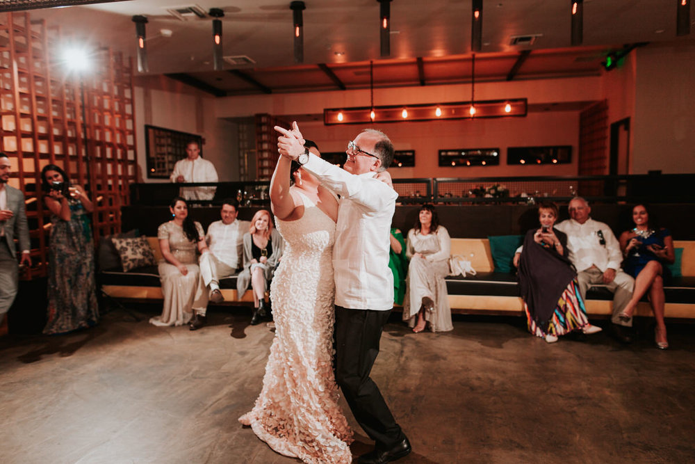 Guests dancing at same sex wedding
