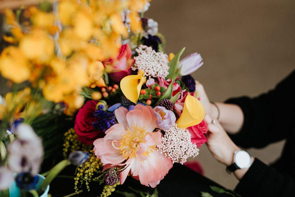 Flowers for maternity shoot