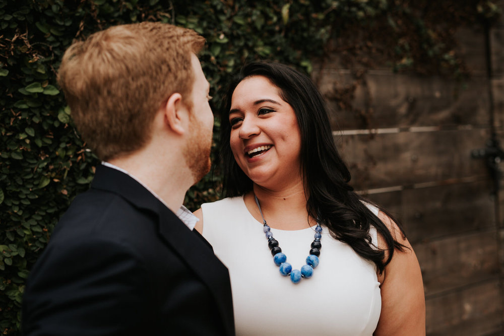 Engaged couple in Houston Texas