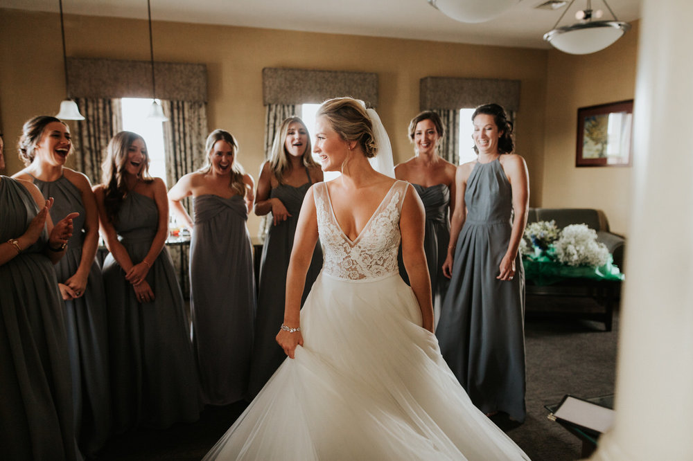 Bride and bridal party at New York wedding
