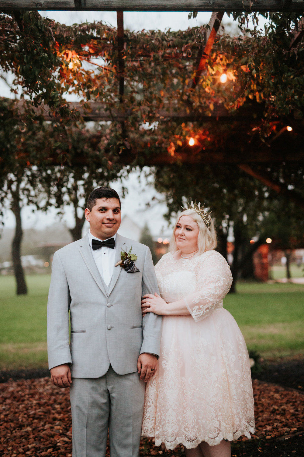 Bride and groom at Pecan Springs Ranch wedding