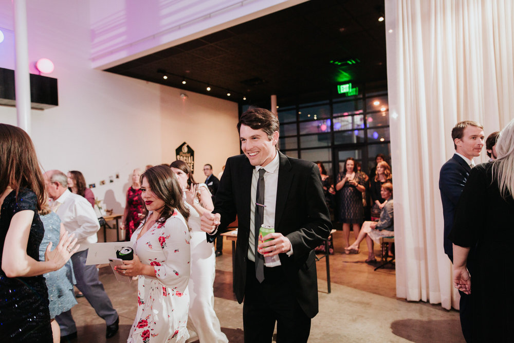 Peached Social House Wedding Reception photography