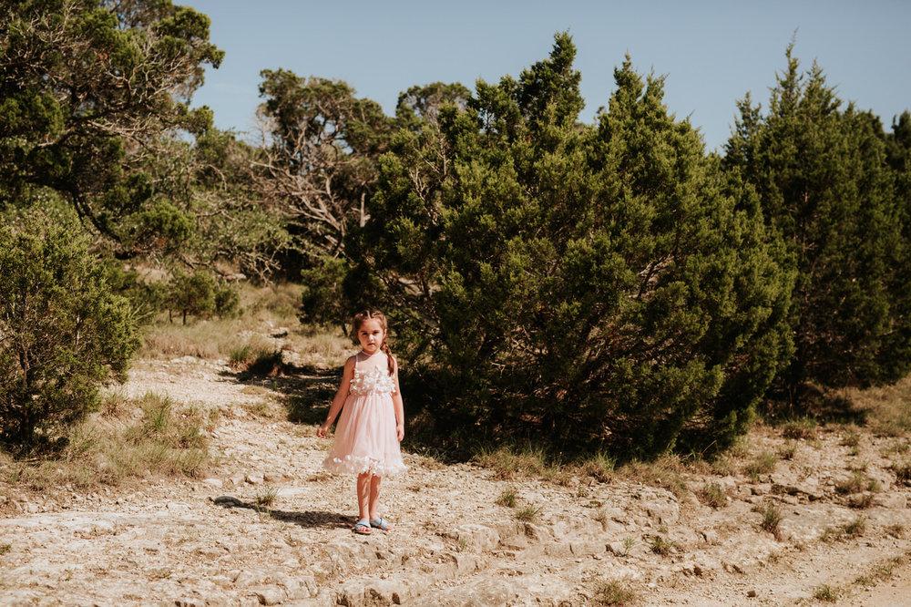 Little girl at Chapel Dulcinea wedding